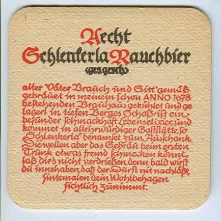 Aecht Schlenkerla alátét B oldal