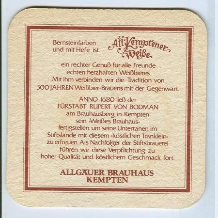 Alt Kemptener alátét B oldal