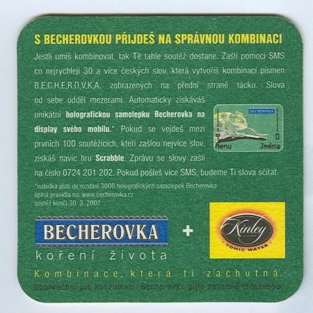 Becherovka alátét B oldal