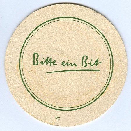 Bitburger alátét B oldal