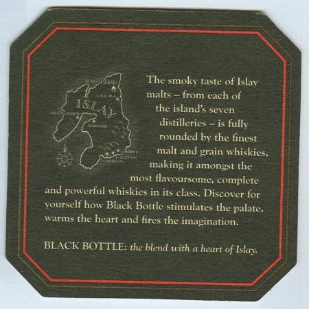 Black Bottle alátét B oldal
