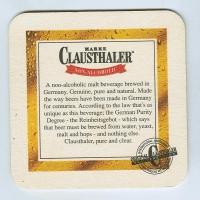 Clausthaler alátét B oldal