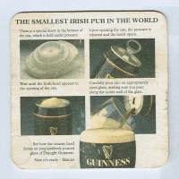 Guinness alátét B oldal