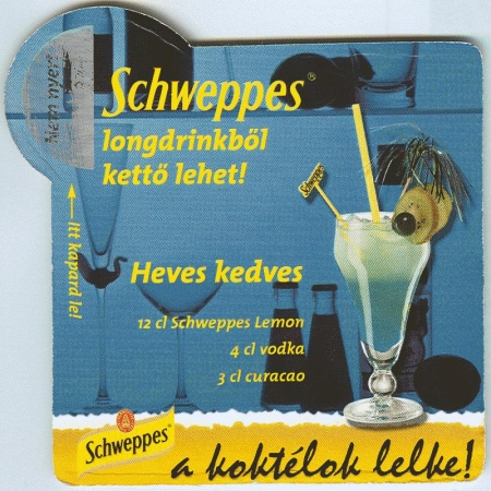 Schweppes alátét B oldal