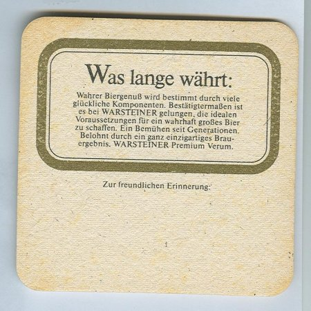 Warsteiner alátét B oldal