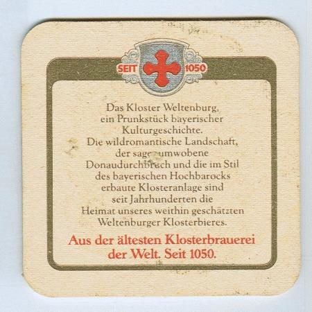 Weltenburger alátét B oldal